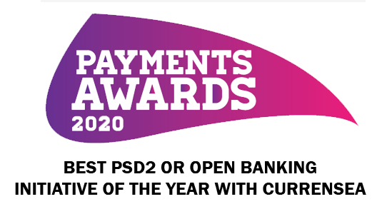 Best PSD2 or Open Banking Initiative of the Year Currensea 2020