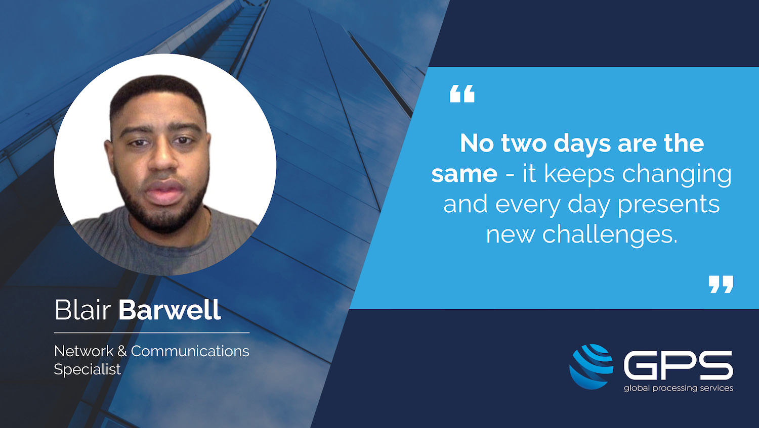 GPS Employee Spotlight: a day in the life of… Blair Barwell